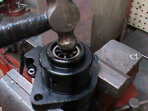 Hammer in gear of harley Davidson reverse motor